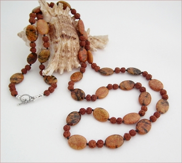Rudraksha & Jasper Necklace