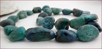 chrysocolla pebble necklace