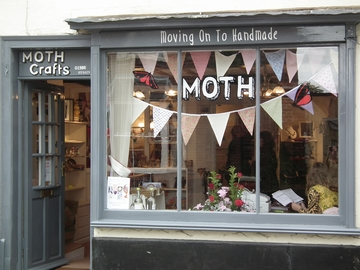 Moth shop window