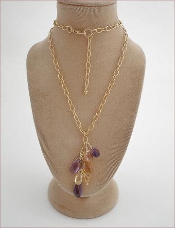 mixed gems dangle