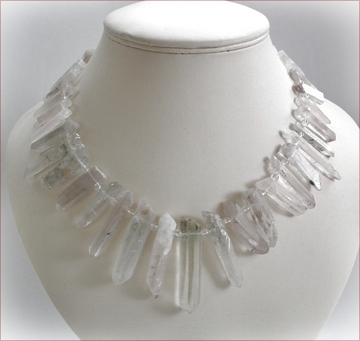 Rock Crystal Points Necklace