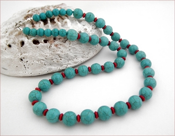 Longer turquoise necklace