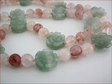 aventurine and quartz