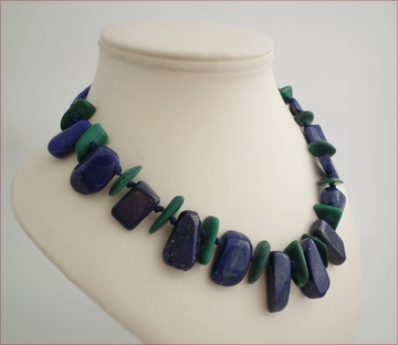 lapis lazuli & malachite