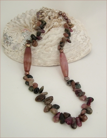 Tourmaline long necklace