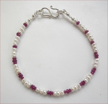 ruby and pearl bracelet