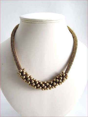 Bronze Contemporary Necklace