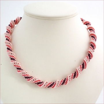 Pink Russian Spiral Necklace