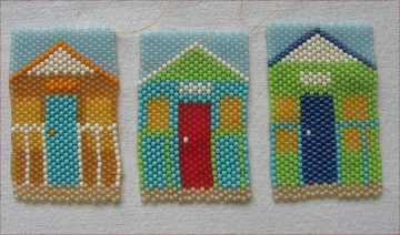 Beaded beach huts