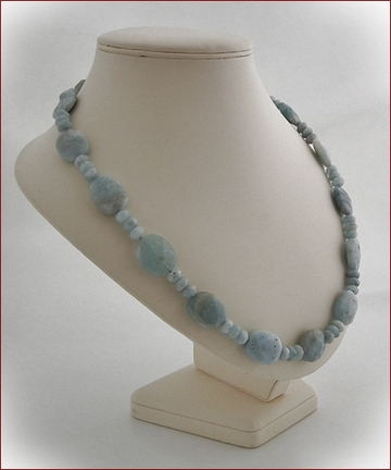 Chunky aquamarine necklace