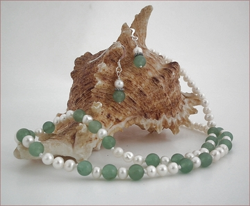 aventurine and pearls