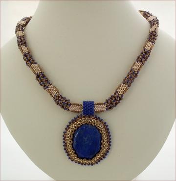 Beadwork Lapis Necklace