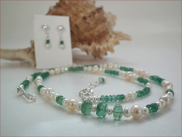 Emerald and Pearls