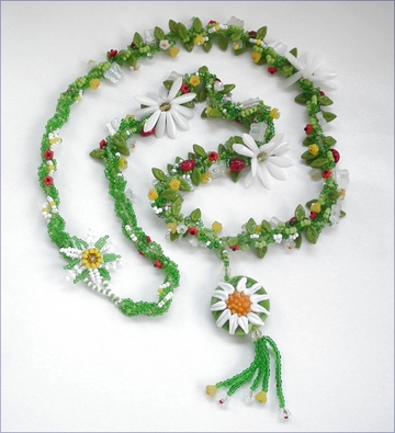 Meadow Beadwork Necklace