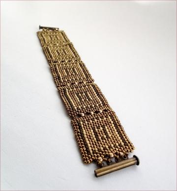 Aztec squares bracelet