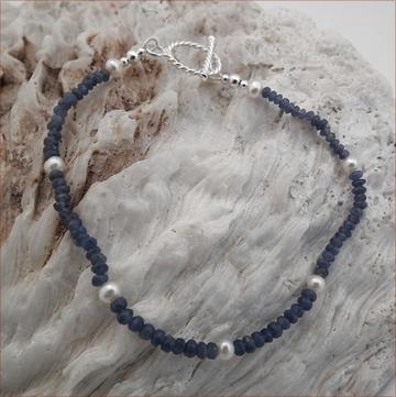 Sapphire & Pearl Bracelet