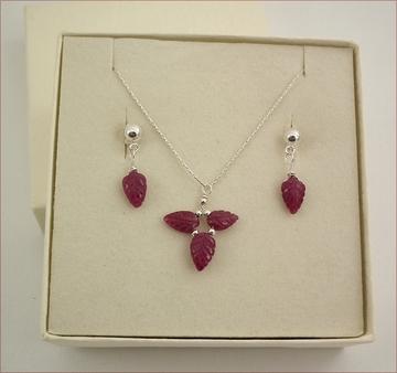 Ruby Necklace & Earrings