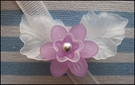 lucite flower brooch two