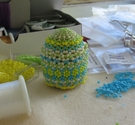 Beaded egg upright
