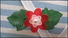 lucite flower brooch three