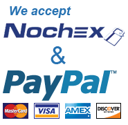 We Accept Nochex and PayPal