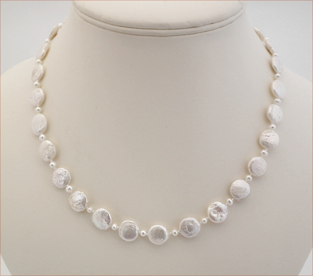 Pearl Coins Knotted Necklace (SM93)