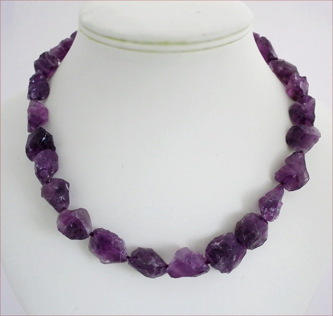 Raw Amethyst Necklace (WB23)