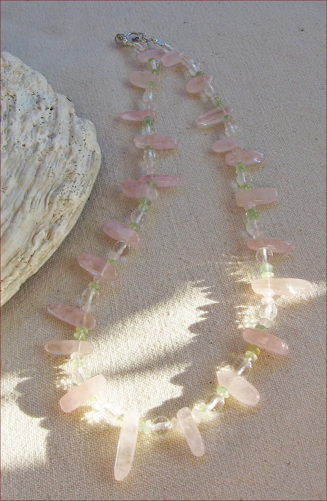 Rose Quartz Necklace (LF20)