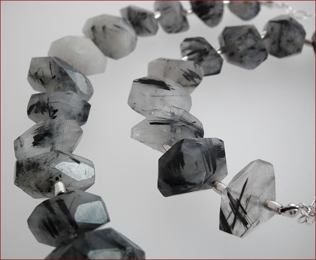 Chunky Tourmalinated Quartz Necklace (SM75)