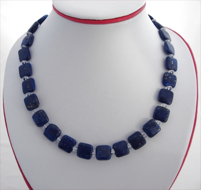 Lapis Lazuli and Crystal Quartz Necklace (SS67)