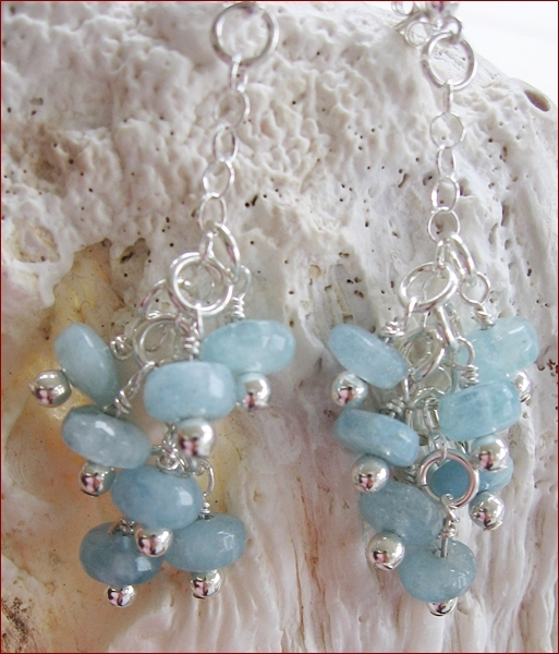 Aquamarine Dangly Earrings (BH56)