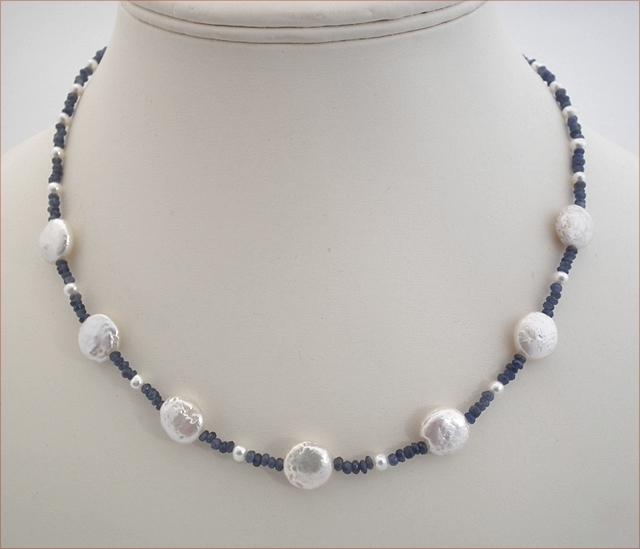 Sapphire and Pearl Necklace (SM94)