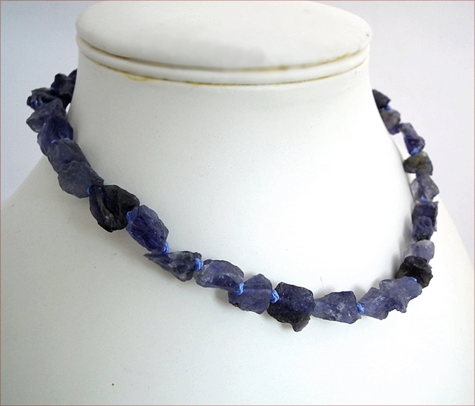 Raw Iolite Necklace (WB24)