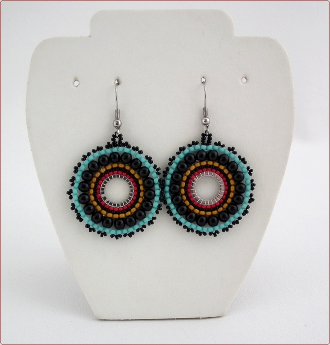 Wheels of Colour Earrings (BWE01)