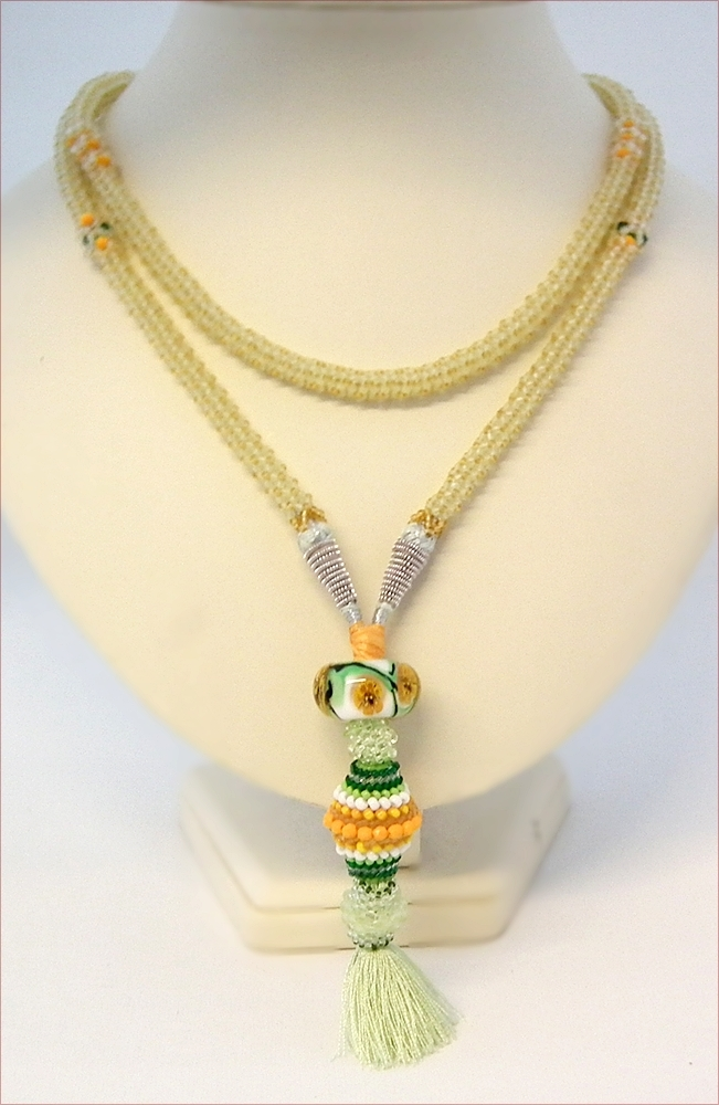 """Flapper"" Tassel Beadwork Necklace (BB122)"