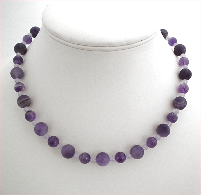 Amethyst Necklace and Earring Set (CG46)