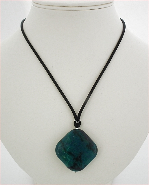 Chrysocolla Pendant Necklace (SS84)