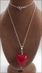 Ruby Red Murano Heart Pendant (SM114)