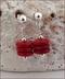 Red Howlite Rondelle Earrings
