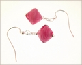 Pink Murano Glass Earrings (DDE22)
