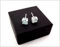 Sky Blue Topaz Stud Earrings (DDE30)