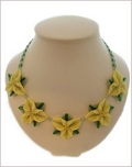 La La La Yellow Necklace and Earrings Set (BB126)