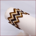 Golf Girl Beadwork Zig Zag Bangle (BB42)