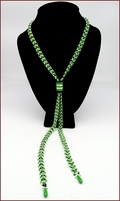 Jazz Fan Beadwork Lariat Necklace (BW143)