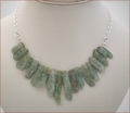 Green Kyanite Sticks with Sterling Silver Chain (WB007)