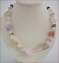 Chunky Raw Crystal Quartz Necklace (WB15)