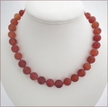 Matt Carnelian Necklace Suffolk Sunset (BH86)