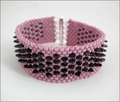 Pink Dragon Beadwork Bracelet (BWB001)