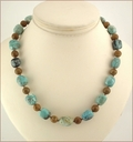 African Opal and Jasper Necklace (D52)