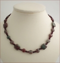 Green and Red Garnet with Garnet Necklace (SM48)